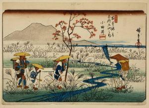 12 Utagawa Hiroshige_Groupe_de_pelerins